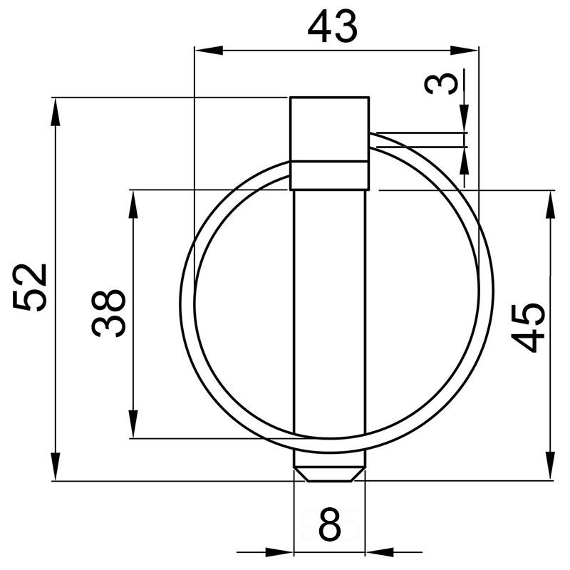 Siguranta cu inel, bolt 8 mm, 2 buc.