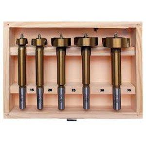 Set burghie titan pentru lemn, 5 buc., 15 - 35 mm